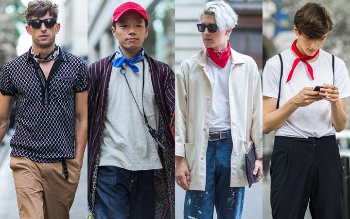 Мужской уличный стиль 2017: шейный платок