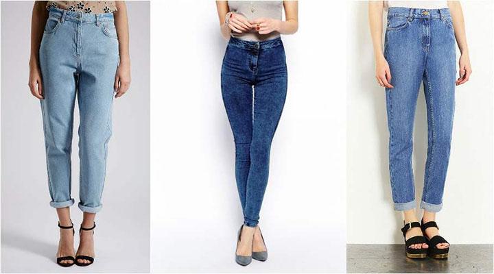 Модные женские джинсы с высокой талией 2017 фото новинки