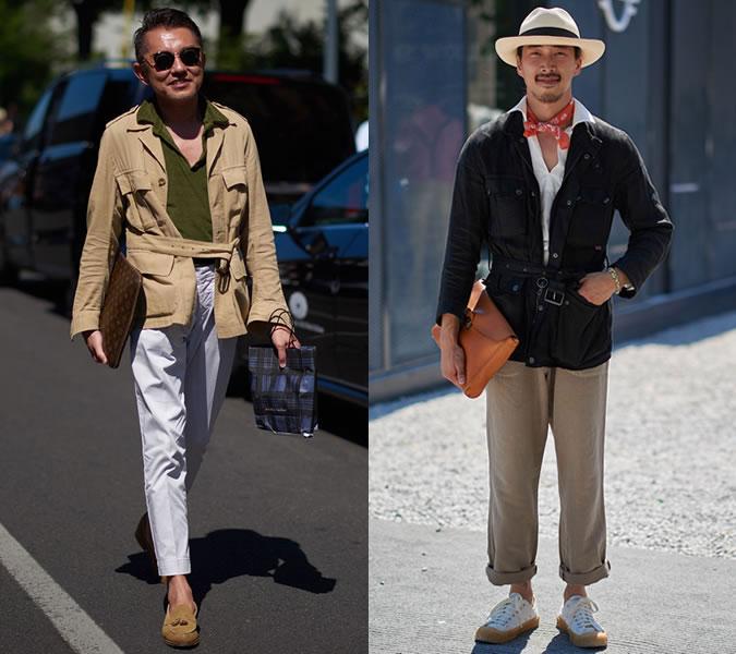 Мужские кардиганы с запахом и поясом в моде весна 2018 фото