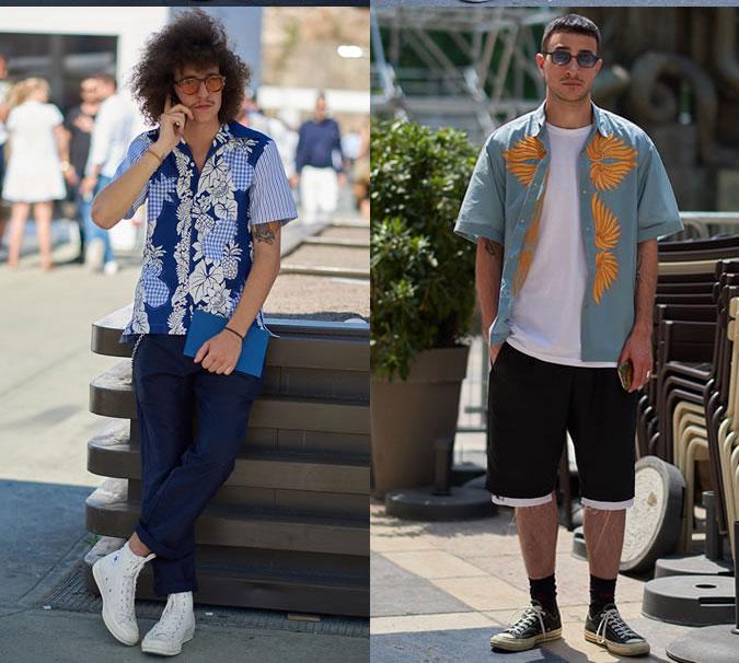 Модные мужские рубашки с принтом весна 2018 фото