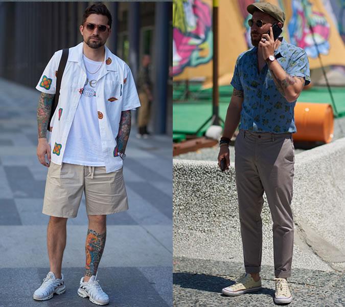 Мужчины в стильных рубашках: уличная мода 2018 лето