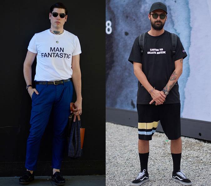 Стильные мужские футболки со слоганами в моде 2018