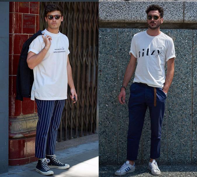 Стильные мужские луки в футболках весна 2018 фото примеры