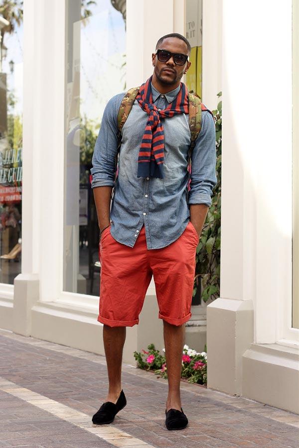 С чем носить черные слипоны под шорты летом