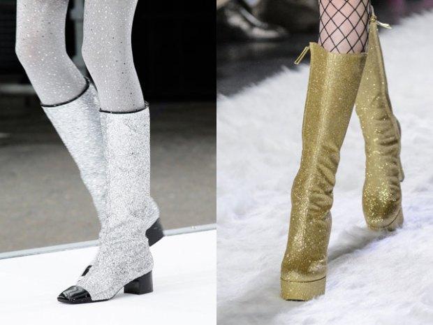 Женская обувь в тренде осень-зима 2017 2108 блестящие модели
