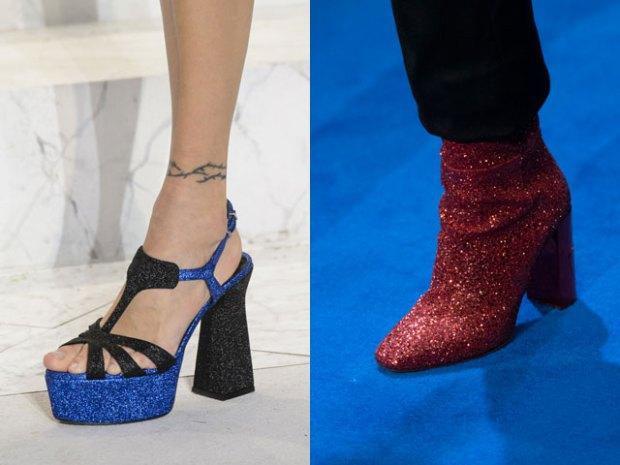 Обувь на толстом каблуке и платформе фото