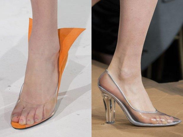 Прозрачная женская обувь на каблуке фото