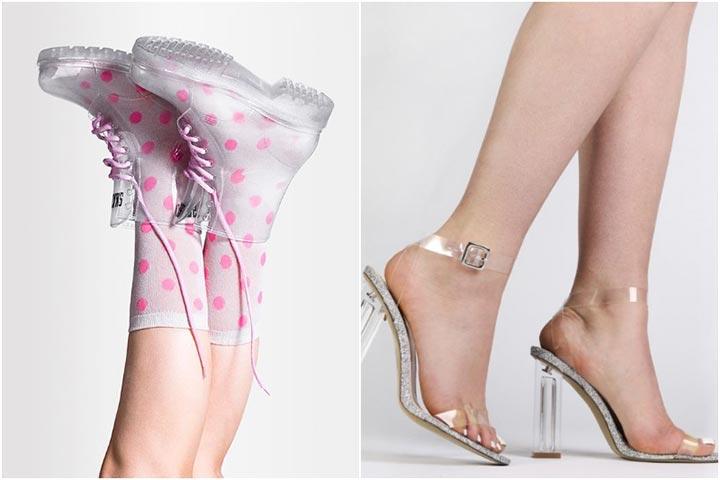 Прозрачная обувь в тренде летом 2017 фото примеры