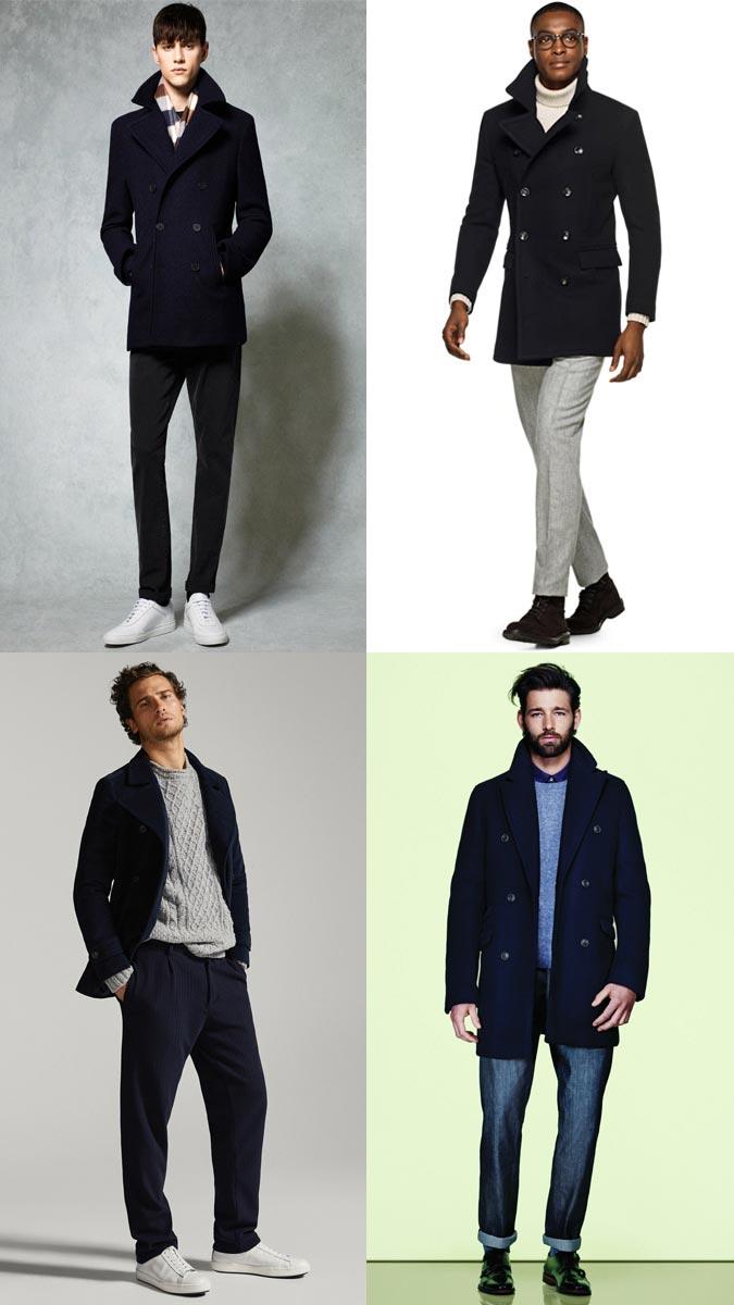 модные мужские пальто 2018: бушлат мужской