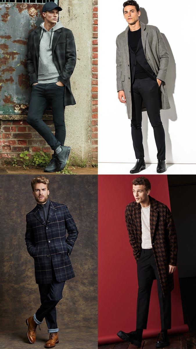 мужские пальто в клетку классика 2018 года модные тенденции