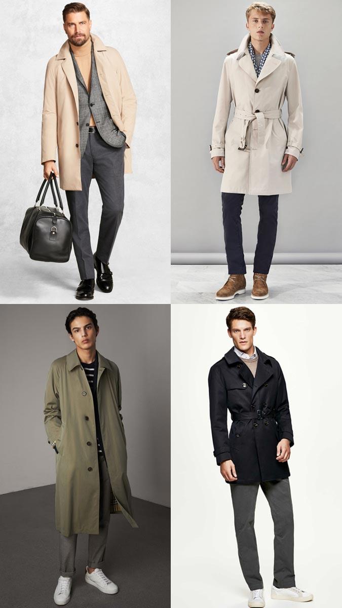 пальто 2017 2018 года модные мужские: макинтош