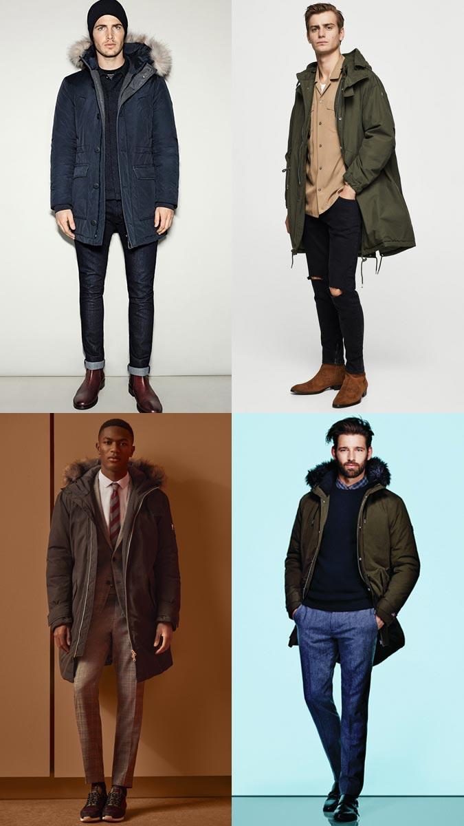 модная мужская парка осень зима 2018