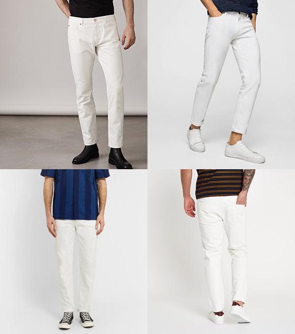 Как носить белые мужские джинсы 2018