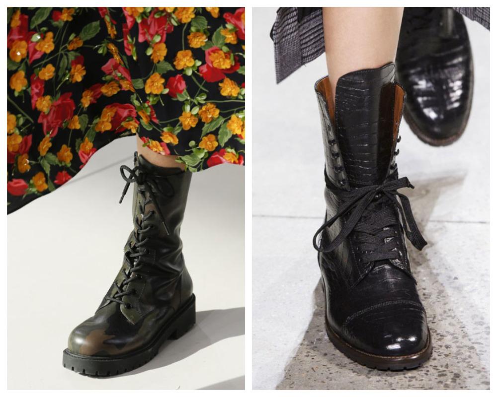 Женская Обувь в стиле милитари 2019