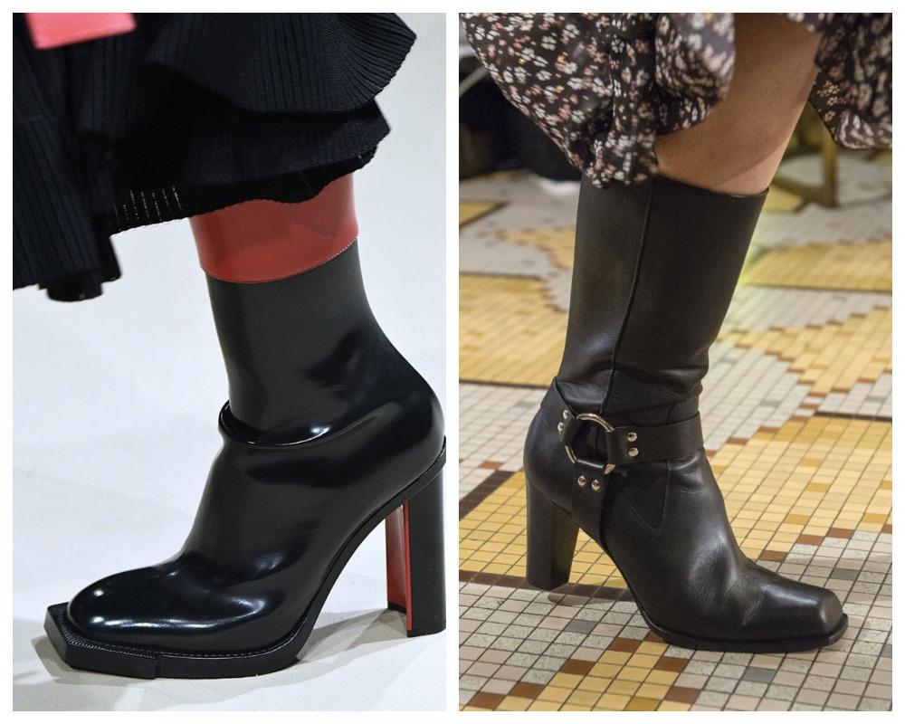 Сапоги с квадратным носком