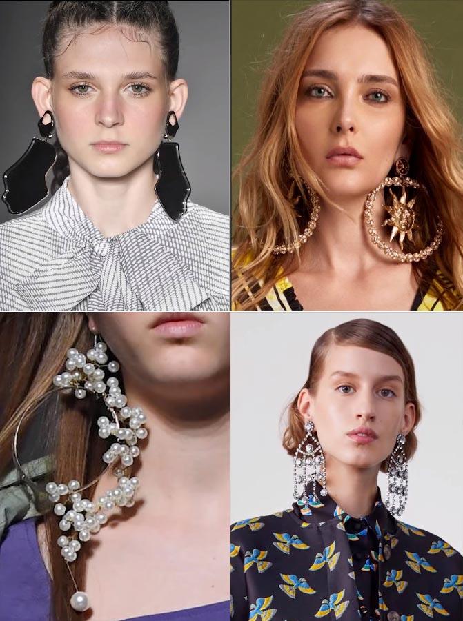 Модные крупные серьги в моде 2019 фото картинки